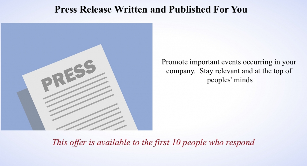 press release graphic template